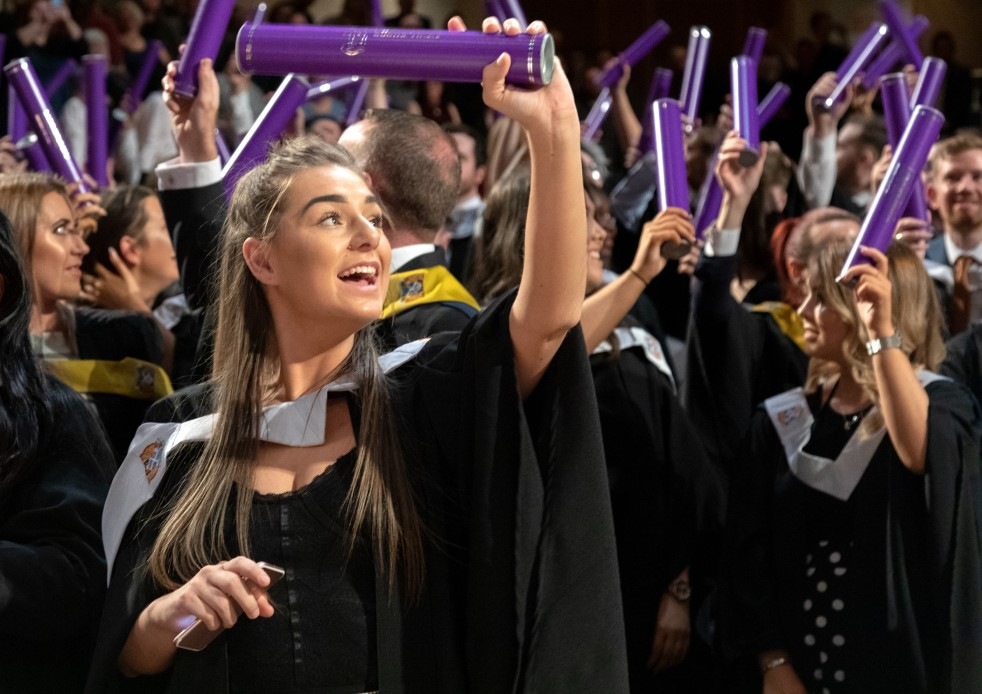 Students celebrate graduating from New College Lanarkshire (pic credit Craig Murray).jpg