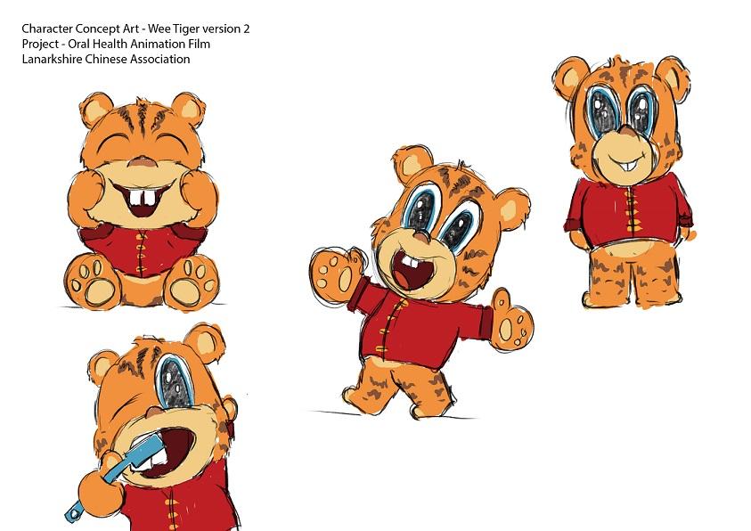 Ruben Fernandez has created a tiger cub character